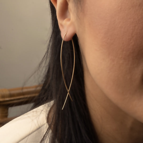 Arc Earrings - Gold