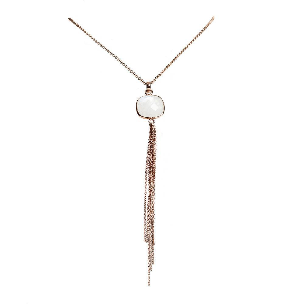 Aurora Necklace - Rose Gold & Moonstone