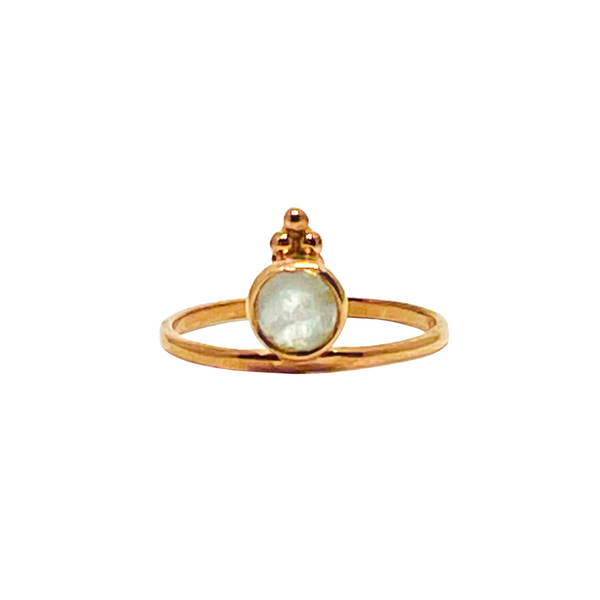 Naliya Ring - Moonstone & Rose Gold