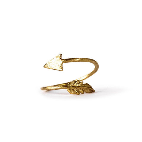 Cupid's Kiss Ring - Brass