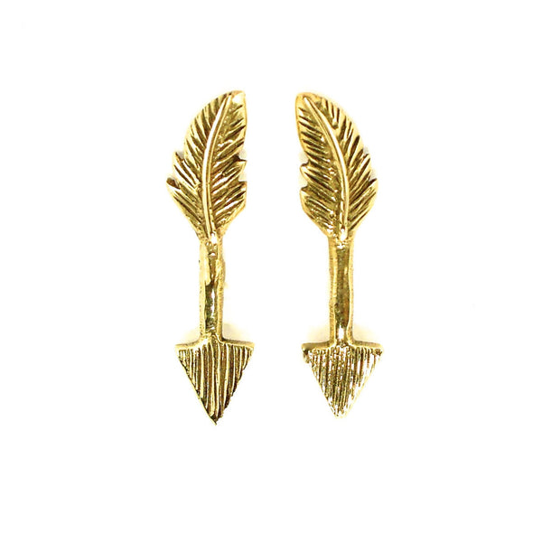 Cupid's Kiss Studs - Brass