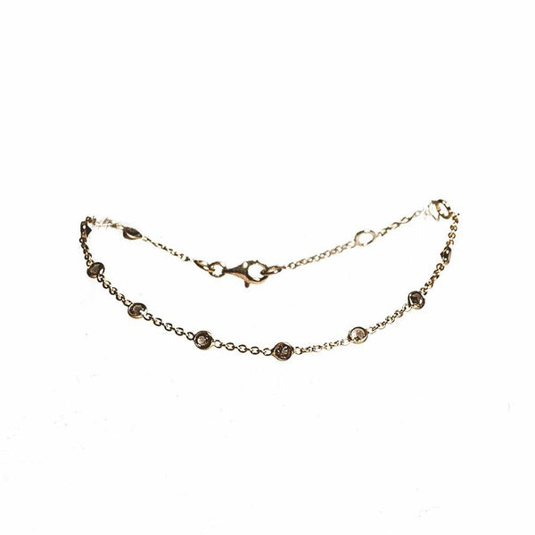 Earth Bracelet - Gold & Smoky Quartz
