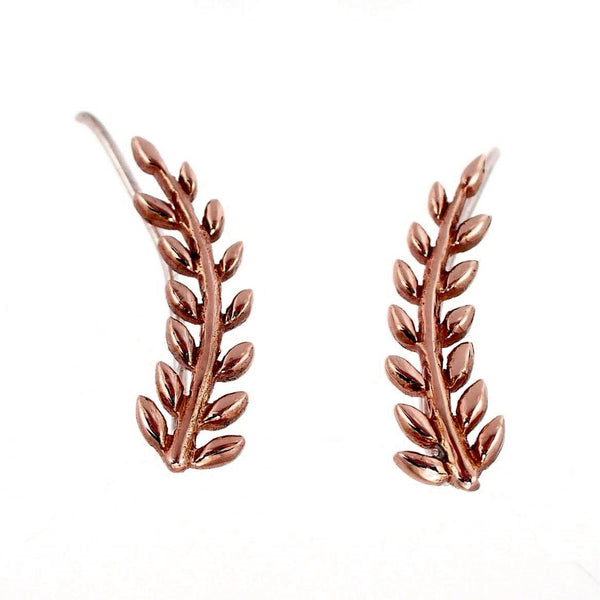 Eden Ear Climbers - Rose Gold