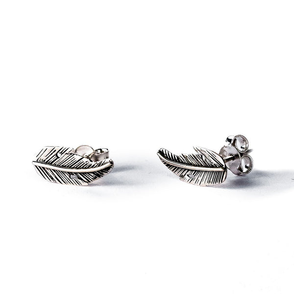 Feather Studs - Silver