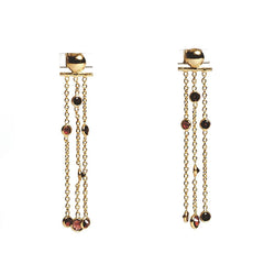 Fire Earrings - Gold & Garnet