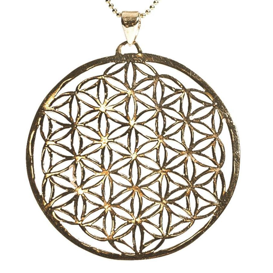 Flower Of Life Necklace - Gold