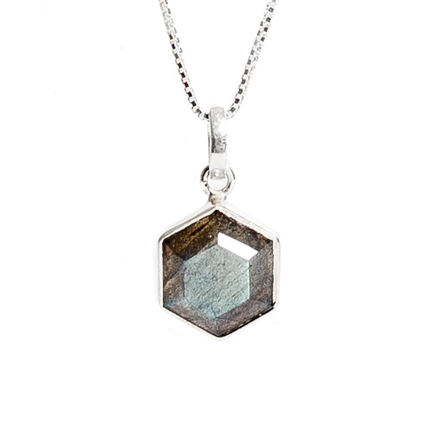 Honeybee Necklace - Labradorite & Silver