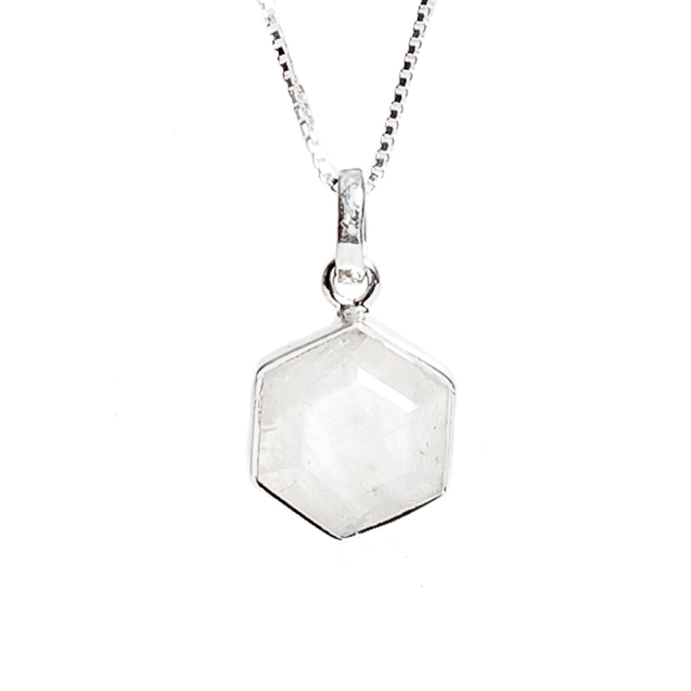 Honeybee Necklace - Moonstone & Silver