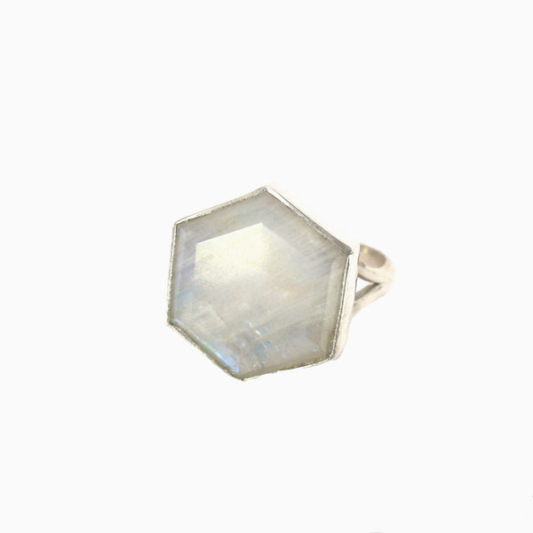 Honeybee Ring - Moonstone & Silver