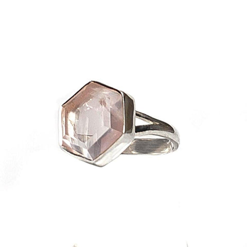 Honeybee Ring - Rose Quartz & Silver
