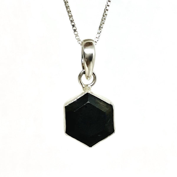 Honeybee Necklace - Shungite & Silver