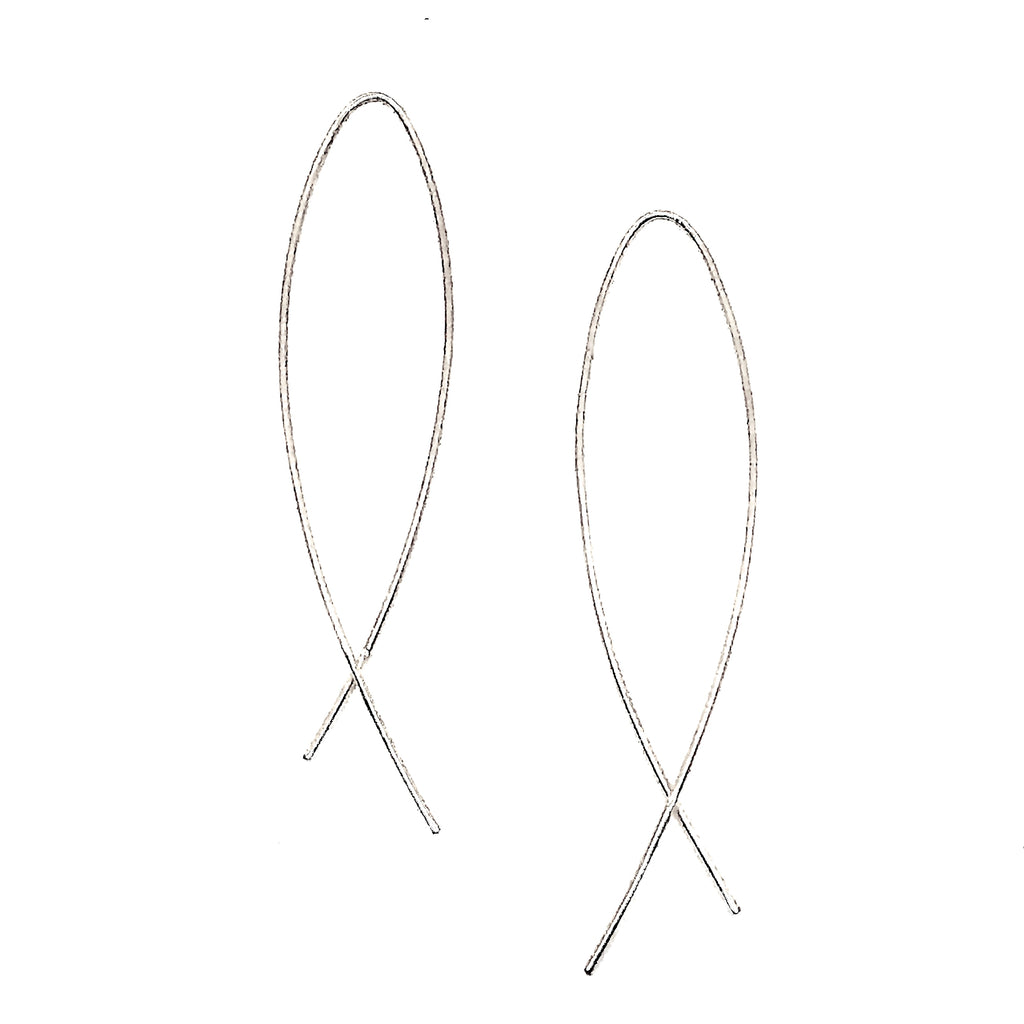 Arc Earrings - Silver