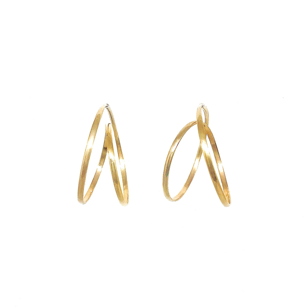 Rollercoaster Earrings - Gold