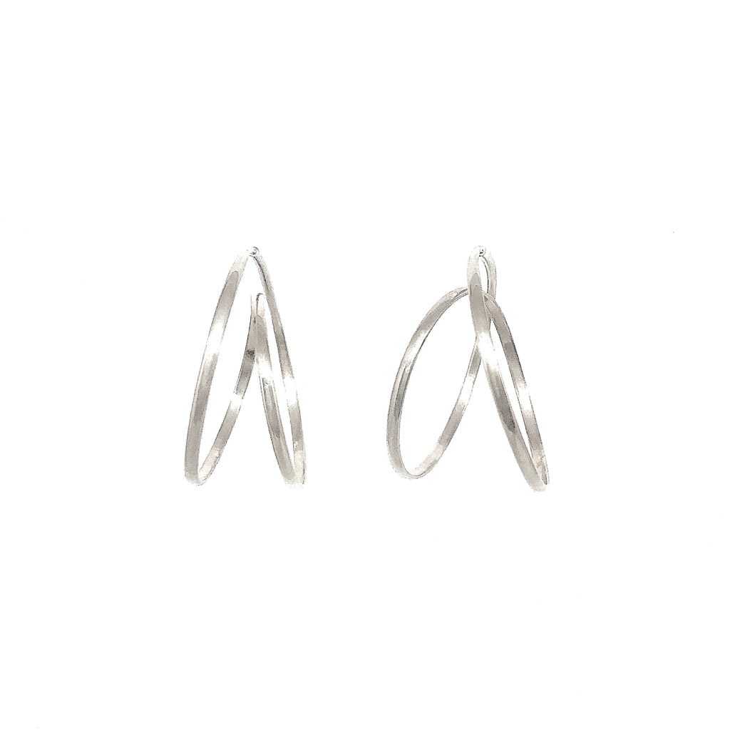 Rollercoaster Earrings - Silver