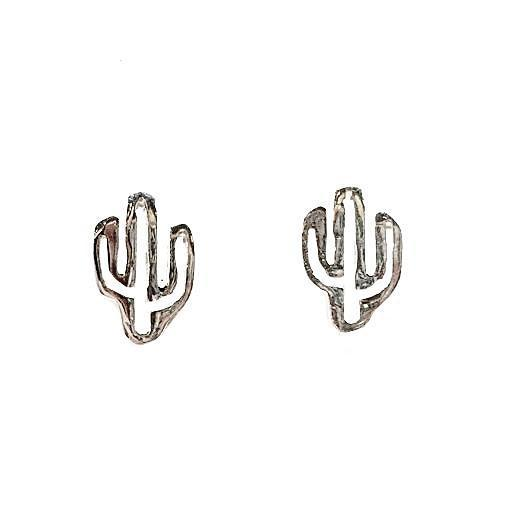 Cactus Studs - Silver