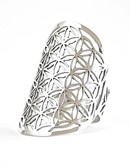 Flower of Life ring sterling silver size 6 size 7 size 8