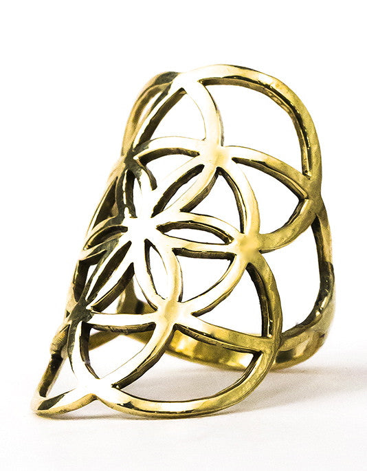 Seed of Life Ring - Brass