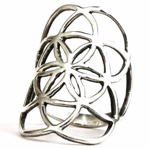 Seed of Life Ring - Silver
