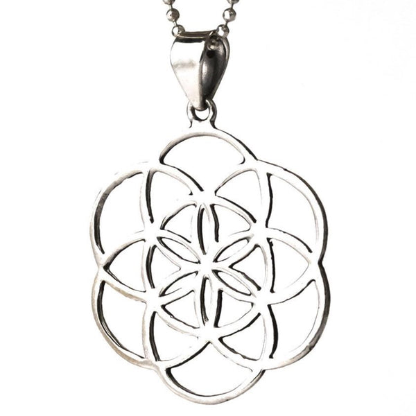 Seed of Life necklace pendant sterling silver