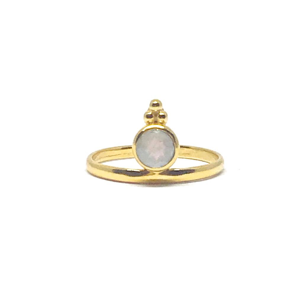 Naliya Ring - Moonstone & Gold