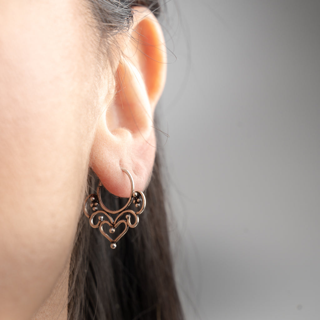 Lakshmi Earrings - Silver