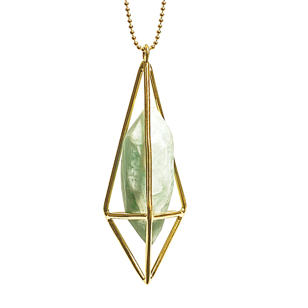Lumia Necklace - Amazonite & Gold