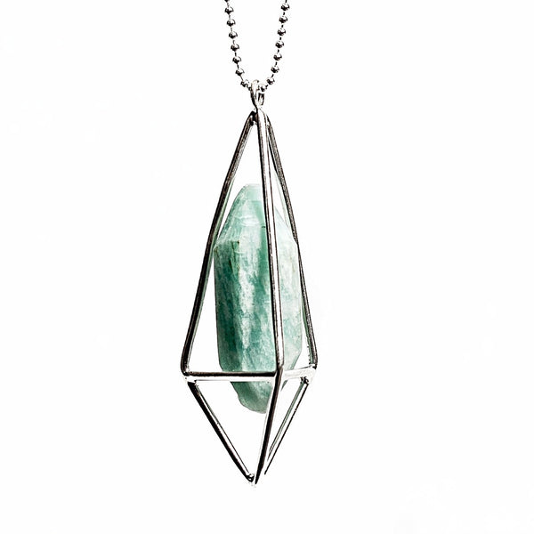 Lumia Necklace - Amazonite & Silver