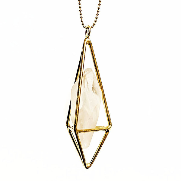 Lumia Necklace - Crystal Quartz & Gold