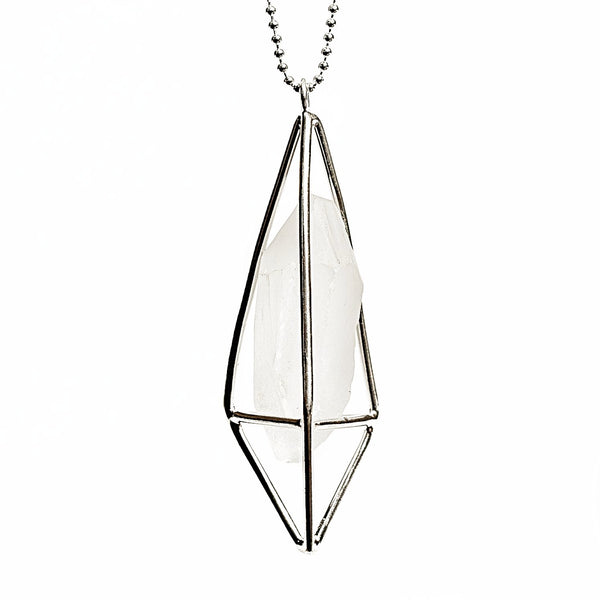 Lumia Necklace - Crystal Quartz & Silver