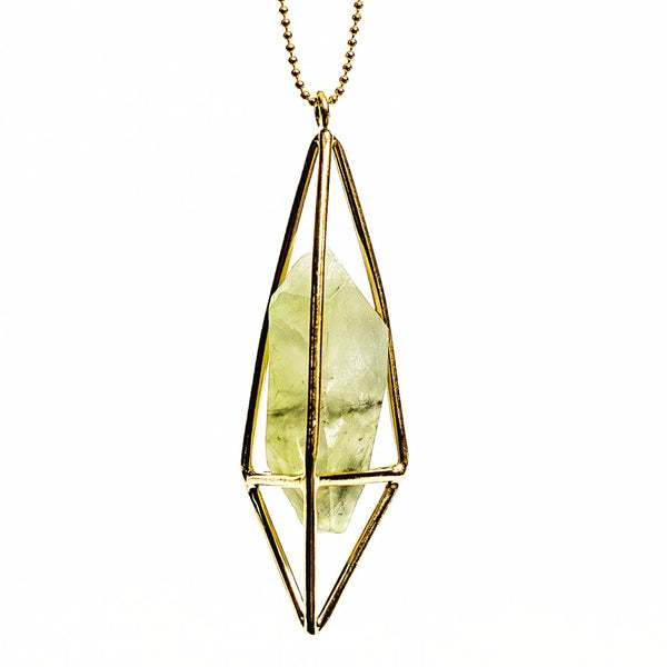 Lumia Necklace - Prehnite & Gold