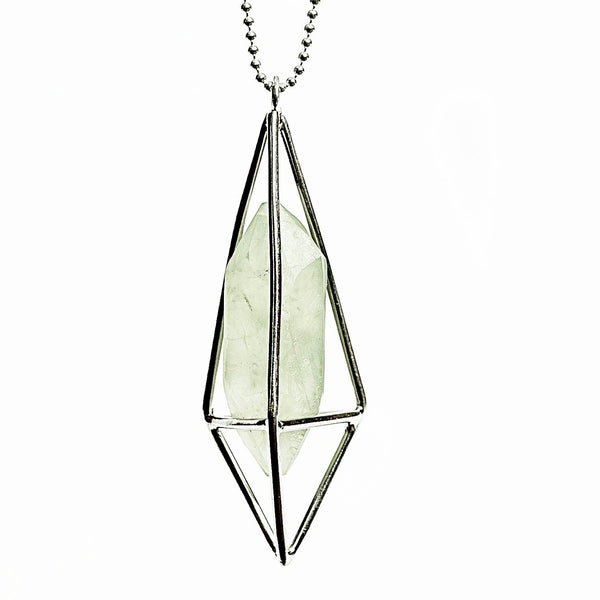 Lumia Necklace - Prehnite & Silver