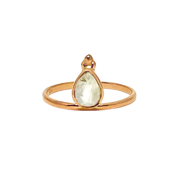 Mandvi Ring - Moonstone & Rose Gold