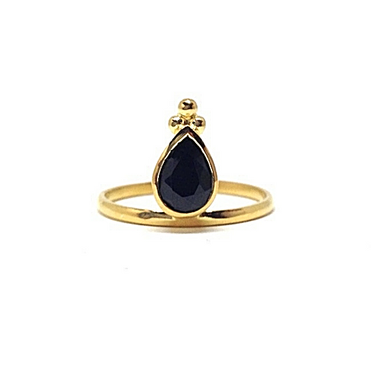Mandvi Ring - Onyx & Gold