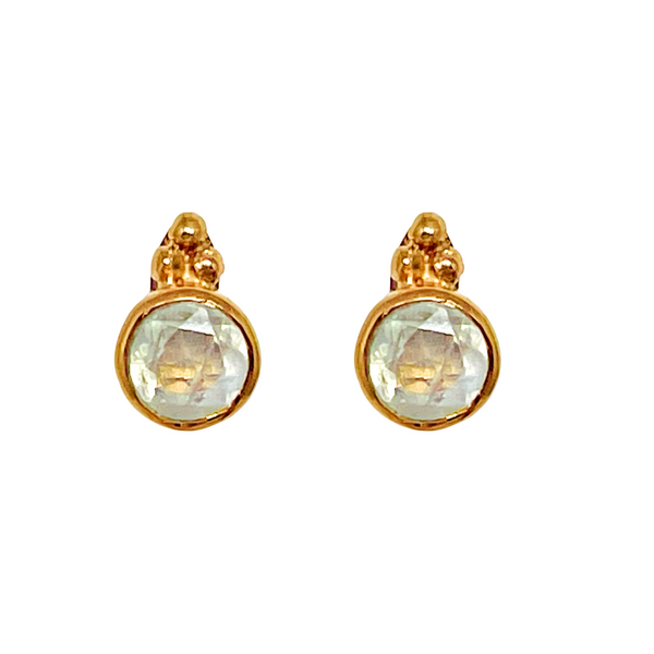 Naliya Studs - Moonstone & Rose Gold