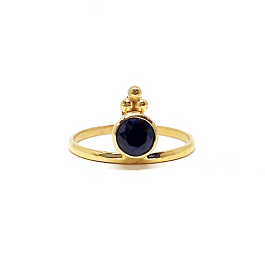 Naliya Ring - Onyx & Gold