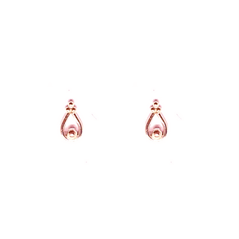 Oliya Studs - Rose Gold