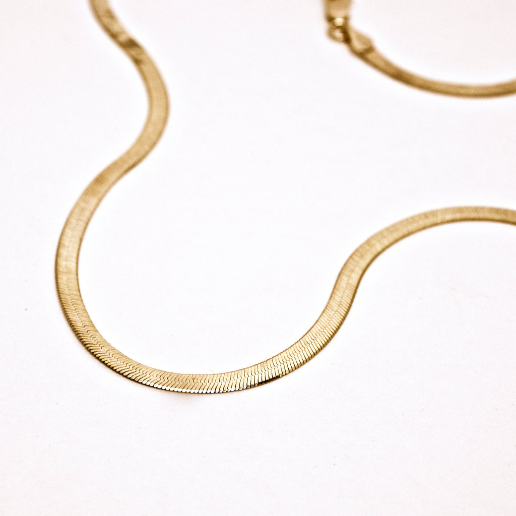 Herringbone Chain - Gold