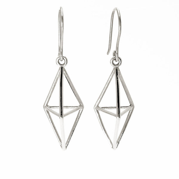 Aria Himmeli Silver Earrings