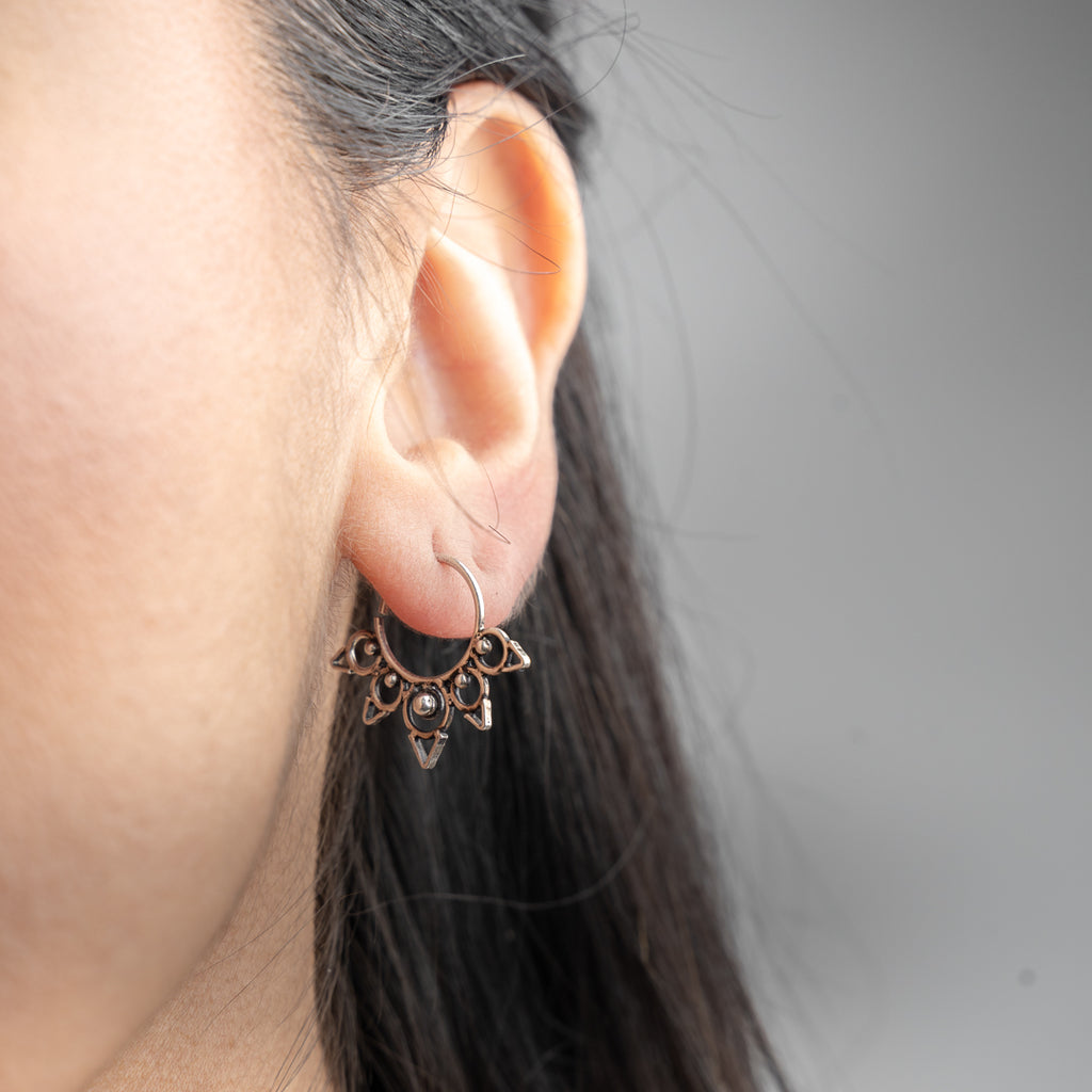 Radha Earrings - Silver