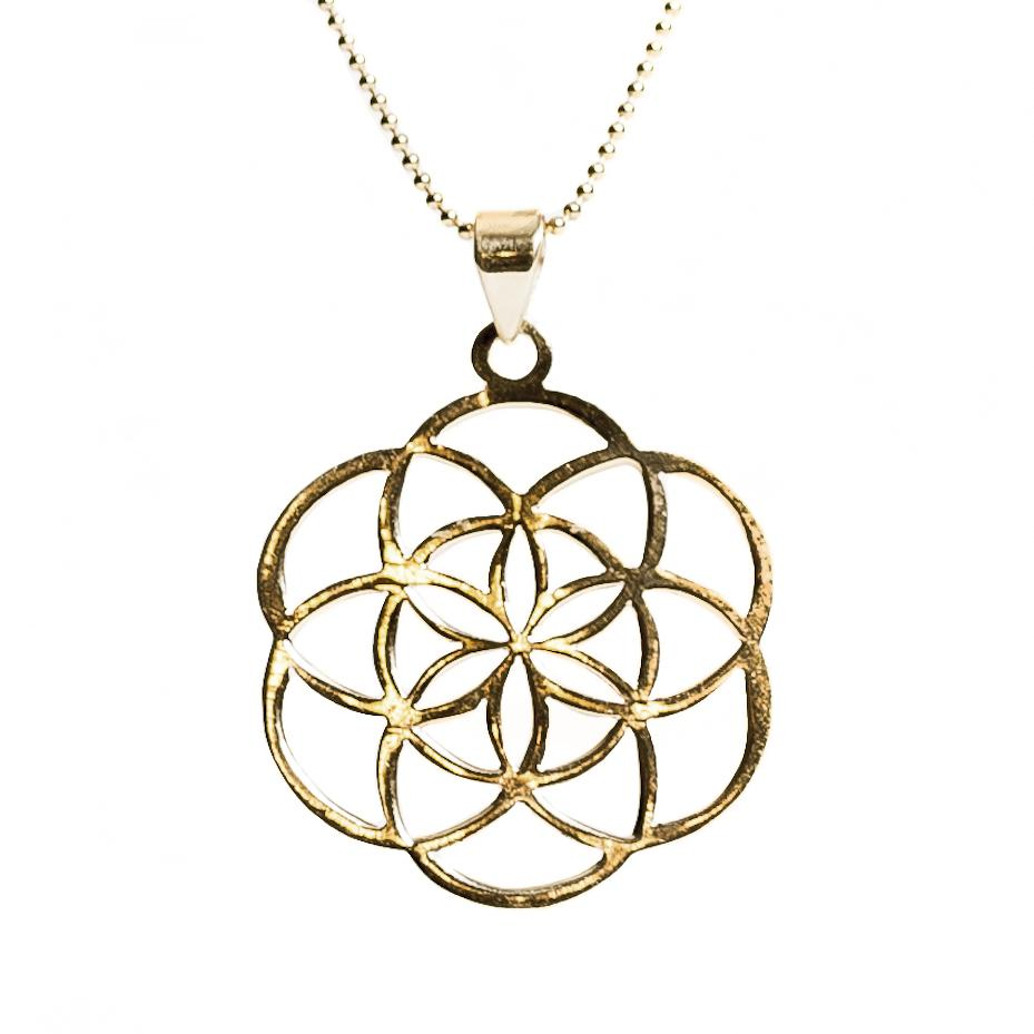 Seed of Life Necklace - Gold
