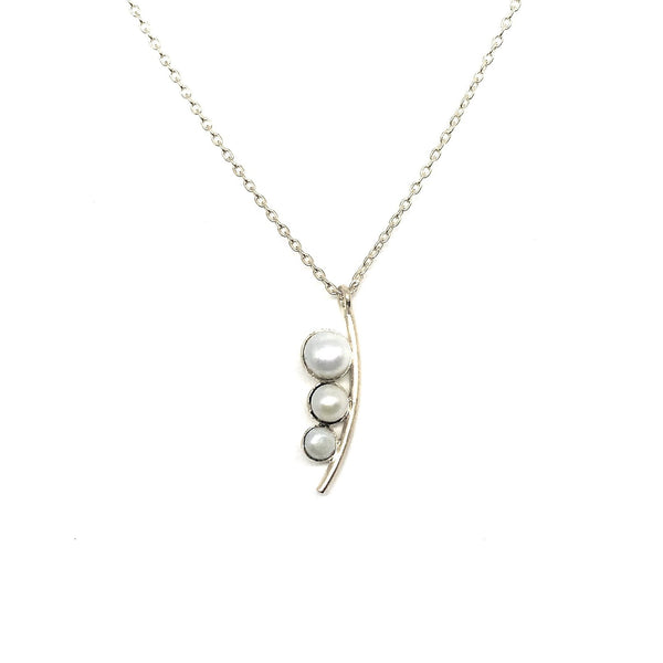 Siren Necklace - Silver & Pearl