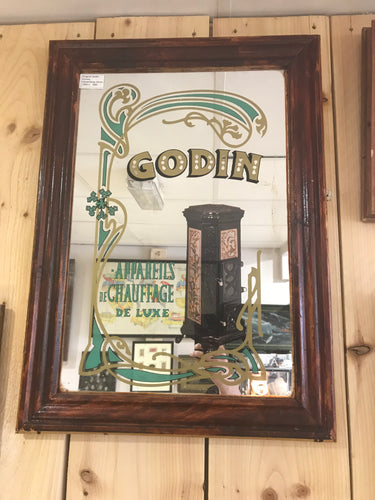 Vintage Advertising Mirror. Godin Stoves.