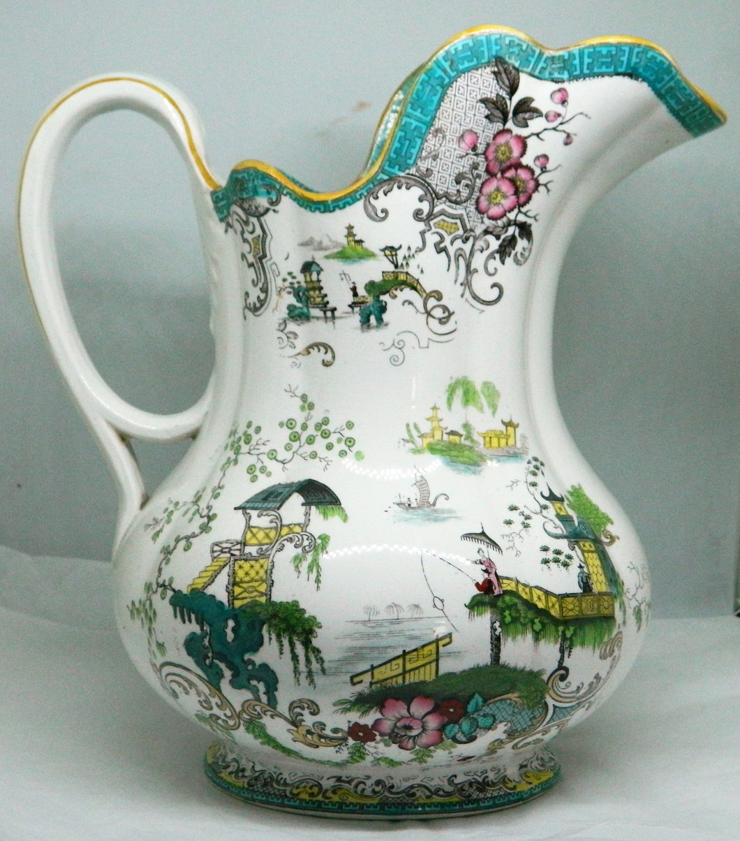 Copeland Spode Ewer and Chamber pot - Japanese scene - 1880