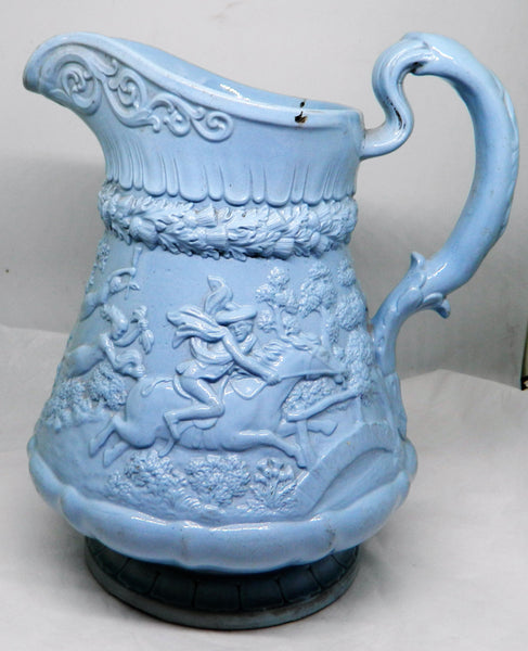 New - William Ridgway Blue Stoneware Molded Jug