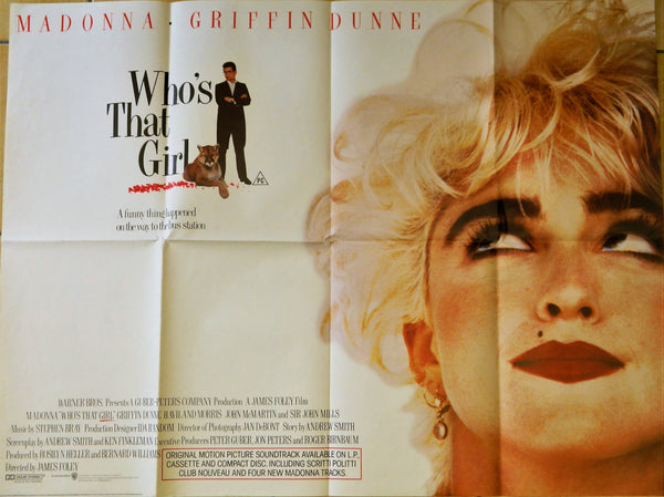 New - Who's That Girl Original Poster 1987