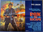 New - P.O.W The Escape Original Poster 1986