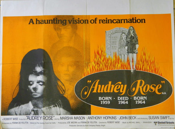 Original Movie Poster - Horror - Audrey Rose  1977