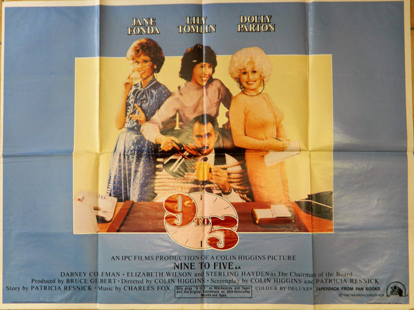 Original Movie Poster - Dolly Parton - 9 to 5  -1980