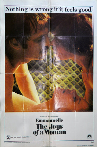 Original Movie Poster - Emmanuelle The Joys of a Woman 1975 - Soft Porn.