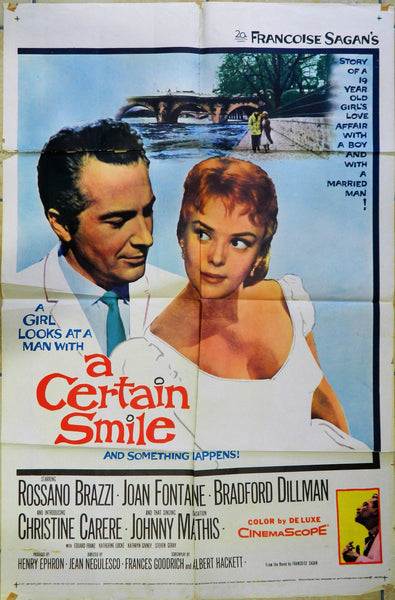 Original Movie Poster - A Certain Smile - 1958